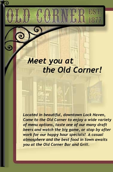old corner - lock haven pa - food and drinks